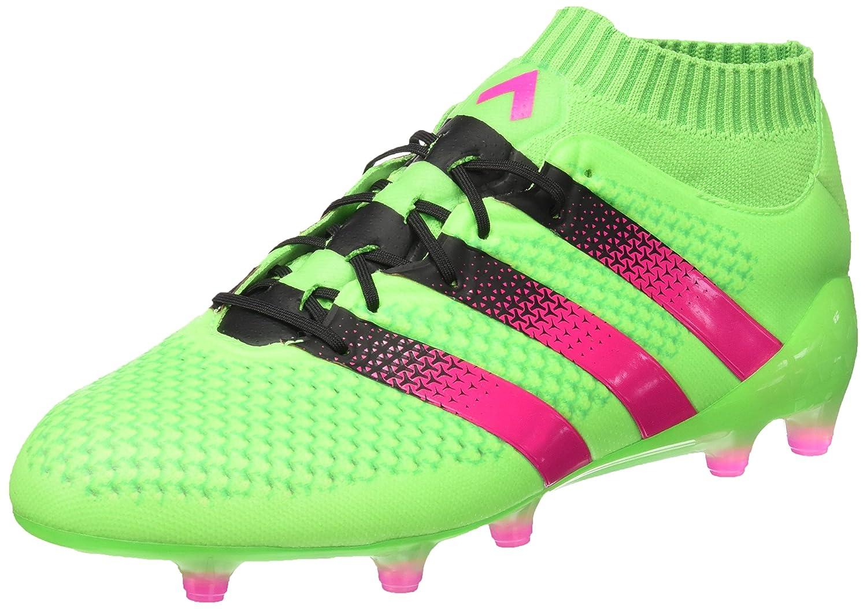 Adidas Ace 16.1 Primeknit FG/AG, Zapatillas de Running para Hombre 40 2/3 EU|Verde / Rosa / Negro (Versol / Rosimp / Negbas)