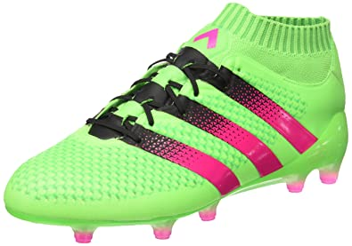 innovative design b81c8 db297 adidas Ace 16.1 Primeknit FGAG, Chaussures de football Vert  Rose  Noir