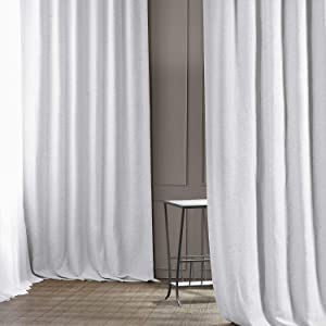 HPD Half Price Drapes BOCH-PL1611-108 Bellino Blackout Room Darkening Curtain (1 Panel), 50 X 108, Chalk Off White