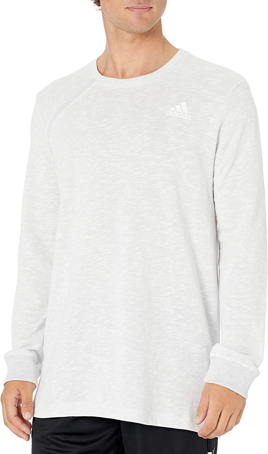 adidas Mens Basketball Pick Up Ls Tee