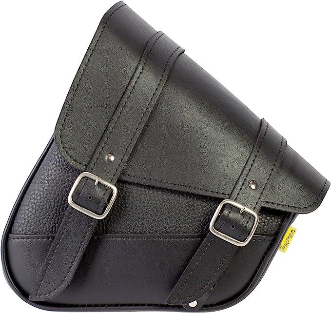 New Motorcycle Harley Style TEK Leather Sportster Single Bag Solo Swingarm Bag