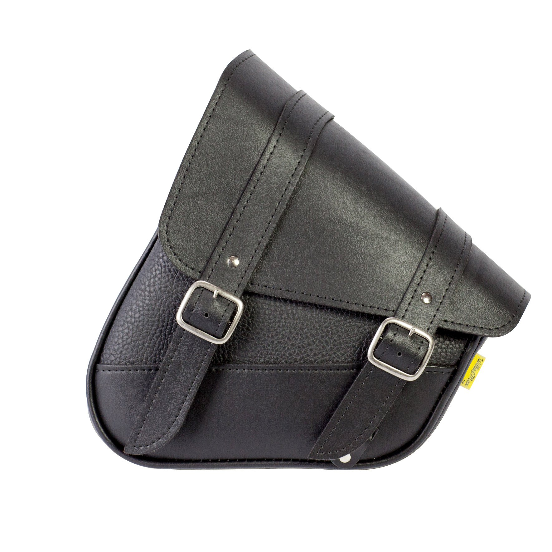 Willie & Max by Dowco 59776-00 Triangulated Synthetic Leather Motorcycle Swingarm Bag: Black, 9 Liter Capacity