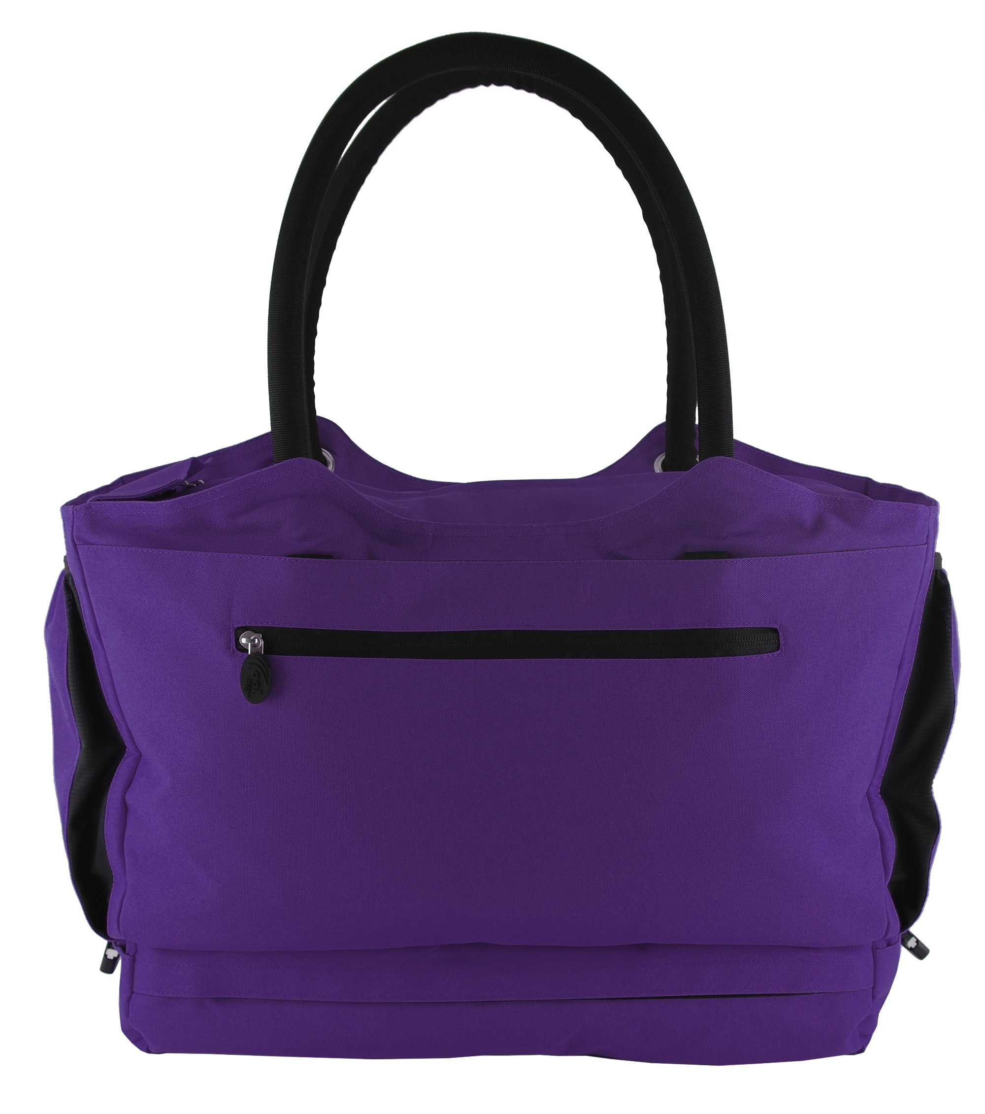 CoolBag Gen 2 Locking Anti-Theft Travel Tote With Insulated Cooler Compartment (Puerto Rico Purple) by CoolBag