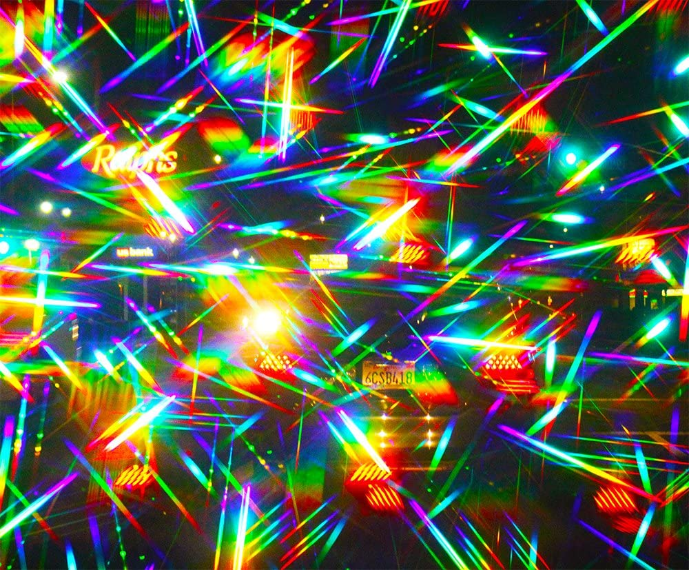 Double Axis 13,500 Line//inch Rainbow Symphony Diffraction Grating Slides Package of 10