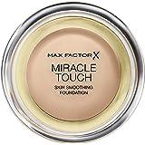 Max Factor Miracle Touch Foundation Natural 70 – Grundierung, die von fest zu flüssig wechselt – Für einen absolut ebenmäßigen Teint – 1 x 12 ml