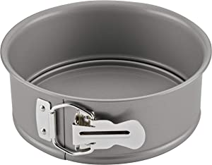 Farberware Specialty Nonstick Bakeware Springform/Fluted Mold Pan, Round, 7 Inch, Gray