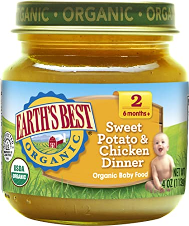 Earths Best Organic Stage 2 Baby Food Sweet Potato And Chicken