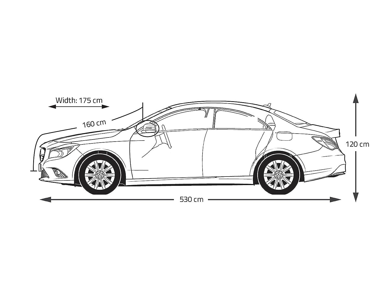 imperm/éable /à toute /épreuve durable Anti-poussi/ère et UV ajustement universel housse de protection Couverture de voiture berline avec doublure int/érieure en polypropyl/ène doux r/ésistant aux rayures
