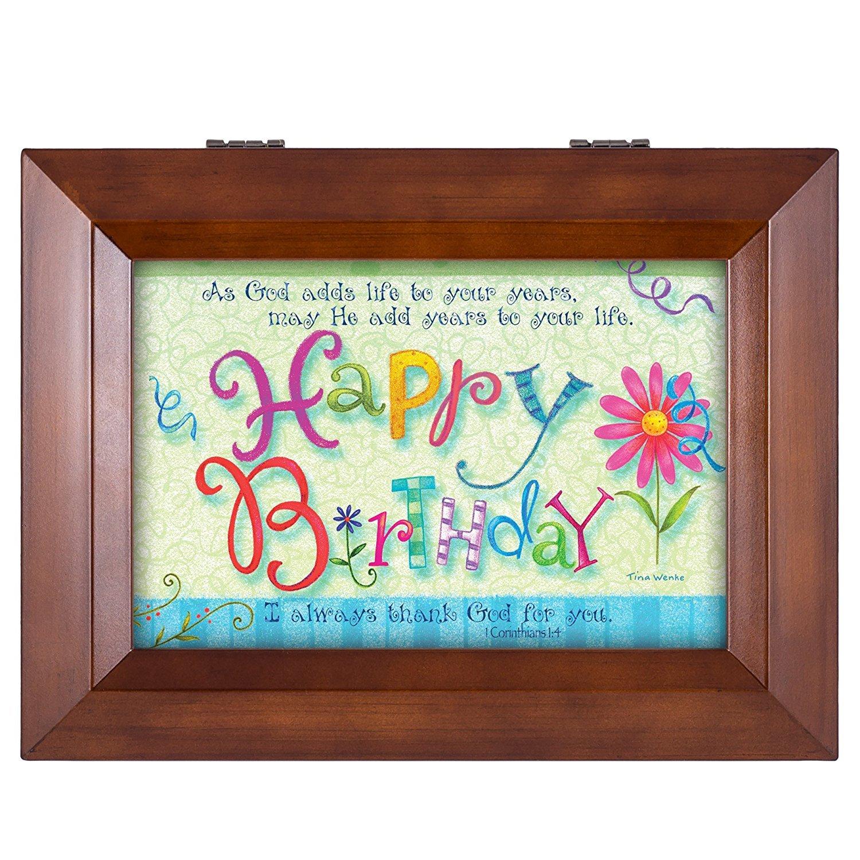 即納!最大半額! Happy Birthday I Thank Tune God for Plays You Thank Wood Finish Jewellery Music Box - Plays Tune You Are My Sunshine B00XAT4P4A, ウチノミチョウ:34a97177 --- arcego.dominiotemporario.com