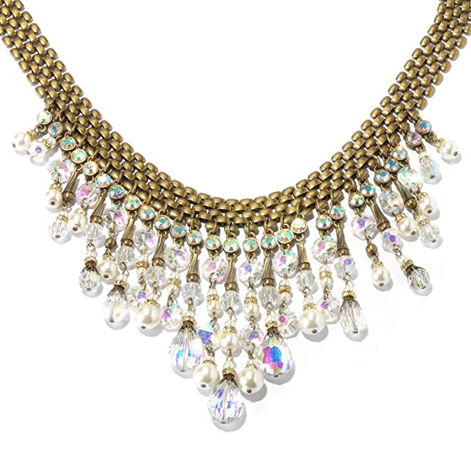 1950s Costume Jewelry 1950s Aurora Collar Necklace $128.00 AT vintagedancer.com