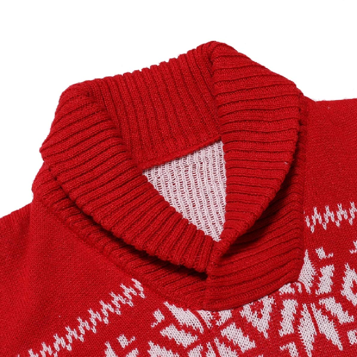 Zimaes-Men Christmas Pullover Long Sleeve Knit Snowflake Sweaters