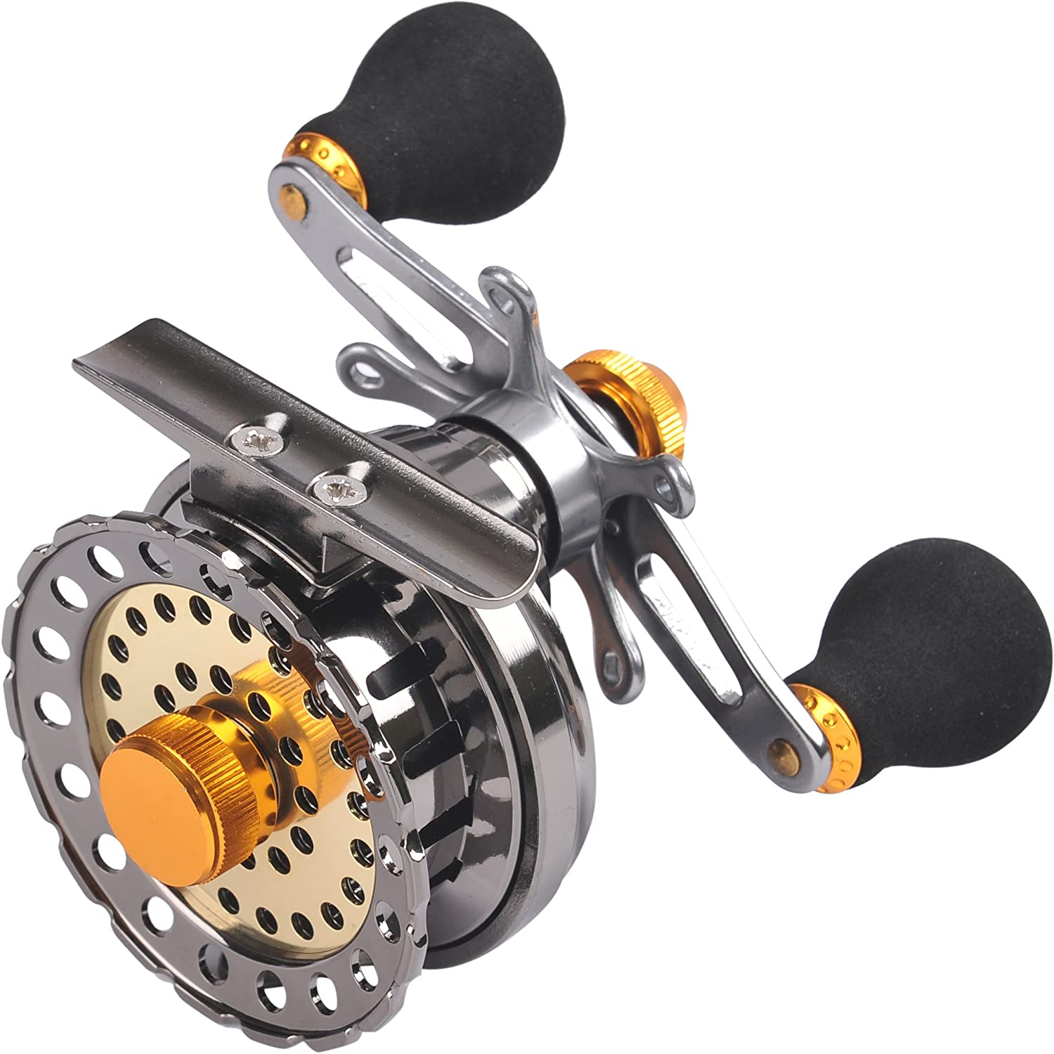 Left//Right Raft Fishing Reel with Line Counter Fly Ice Reels Saltwater Reel