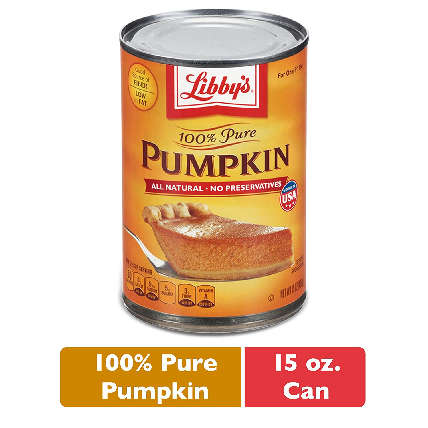 Nestle LIBBY'S 100% Pure Canned Pumpkin Puree, 15 oz. Can