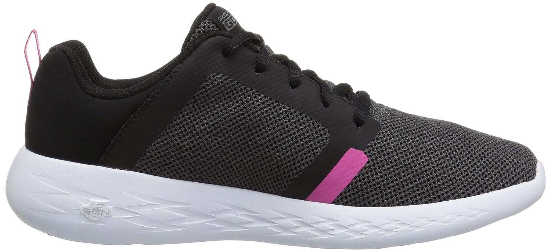 Skechers Women's Go Run 600-15069 Sneaker B073GCN1GG 9.5 B(M) US|Black/Hot Pink