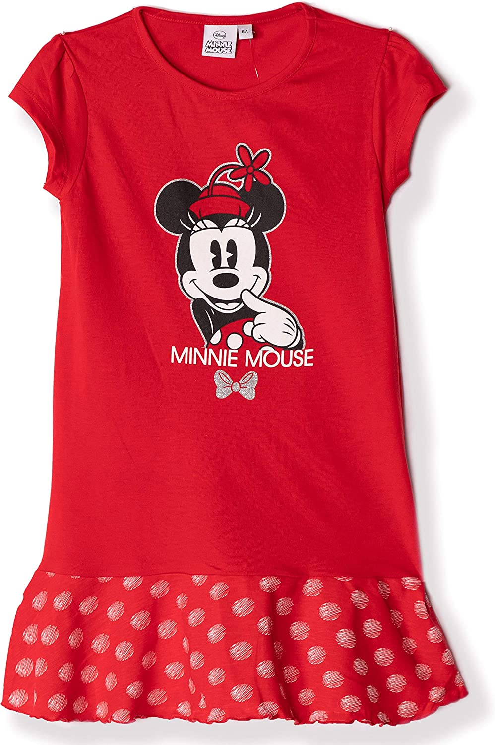 Disney Official Minnie Mickey Mouse Character Girls Short Sleeve 100/% Cotton Nightdress Nightie Pyjamas 2-8 Years