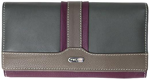 6 opinioni per Felda- portafoglio RFID morbido donna- banconote, monete e 16 fessure per carte-