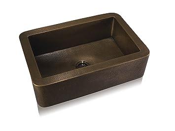 Lenova Ca 131 Copper Apron Front Under Mount Kitchen Sink Oil Rubbed Bronze