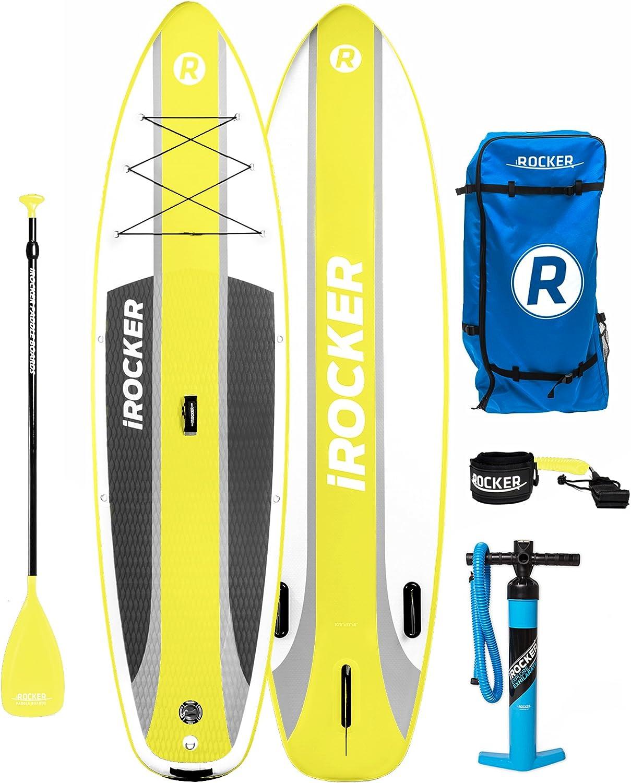 Paquete SUP de tabla de surf de remo hinchable iROCKER CRUISER, 10 ...