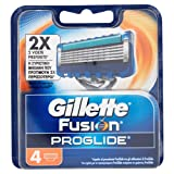 Gillette Fusion Proglide Lamette di Ricambio per Rasoio da Uomo, 4 Pezzi