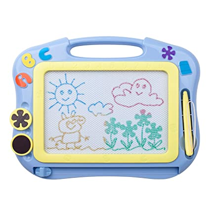 Amazon.com: ikidsislands IKS85B – Tabla de dibujo magnética ...