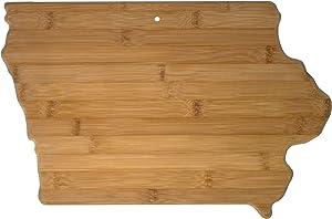 Totally Bamboo 20-7967IA Iowa State Shaped Bamboo Serving & Cutting Board