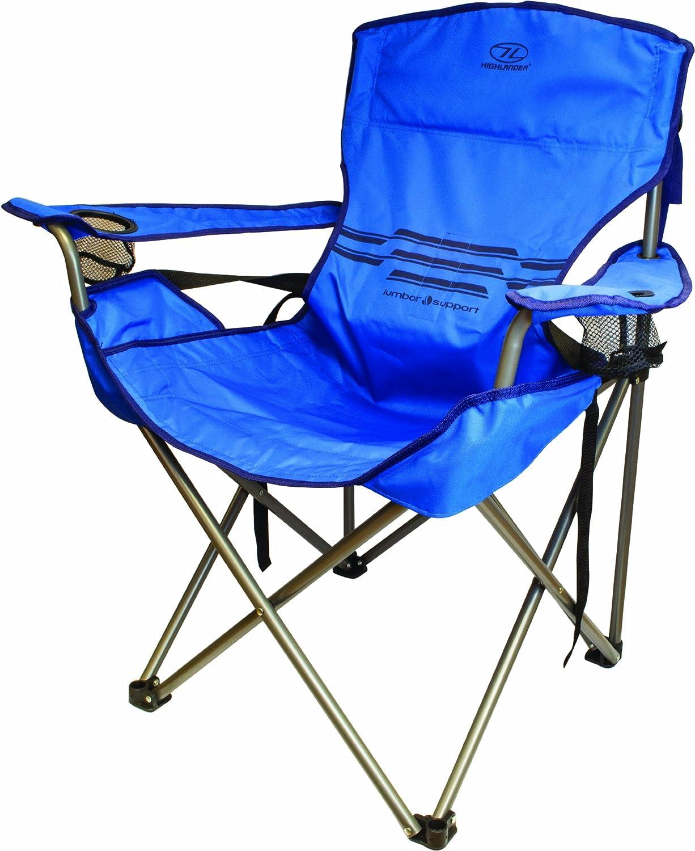 Amazon.com : Highlander Outdoor Lumbar Support Chair, Blue : Sports U0026  Outdoors Nice Design