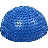 POWRX Balance Dome Kissen mit Noppen I Halbkugel Igel-Balance-Pad für versch. Balanceübungen I 33cm extra groß PVC-frei