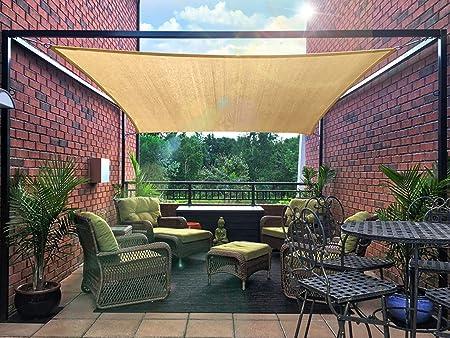 Sun Shade Sail Canopy Rectangle Sand UV Block Awning Top Cover Backyard Patio