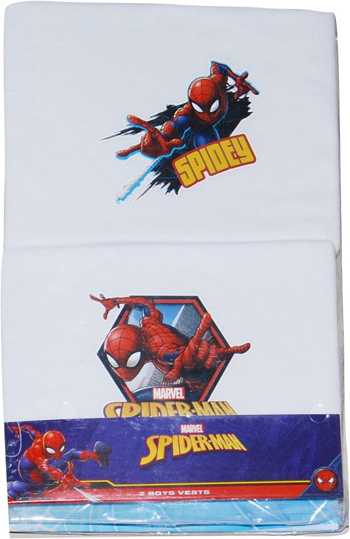 Spiderman Boys Vests 2 Pack