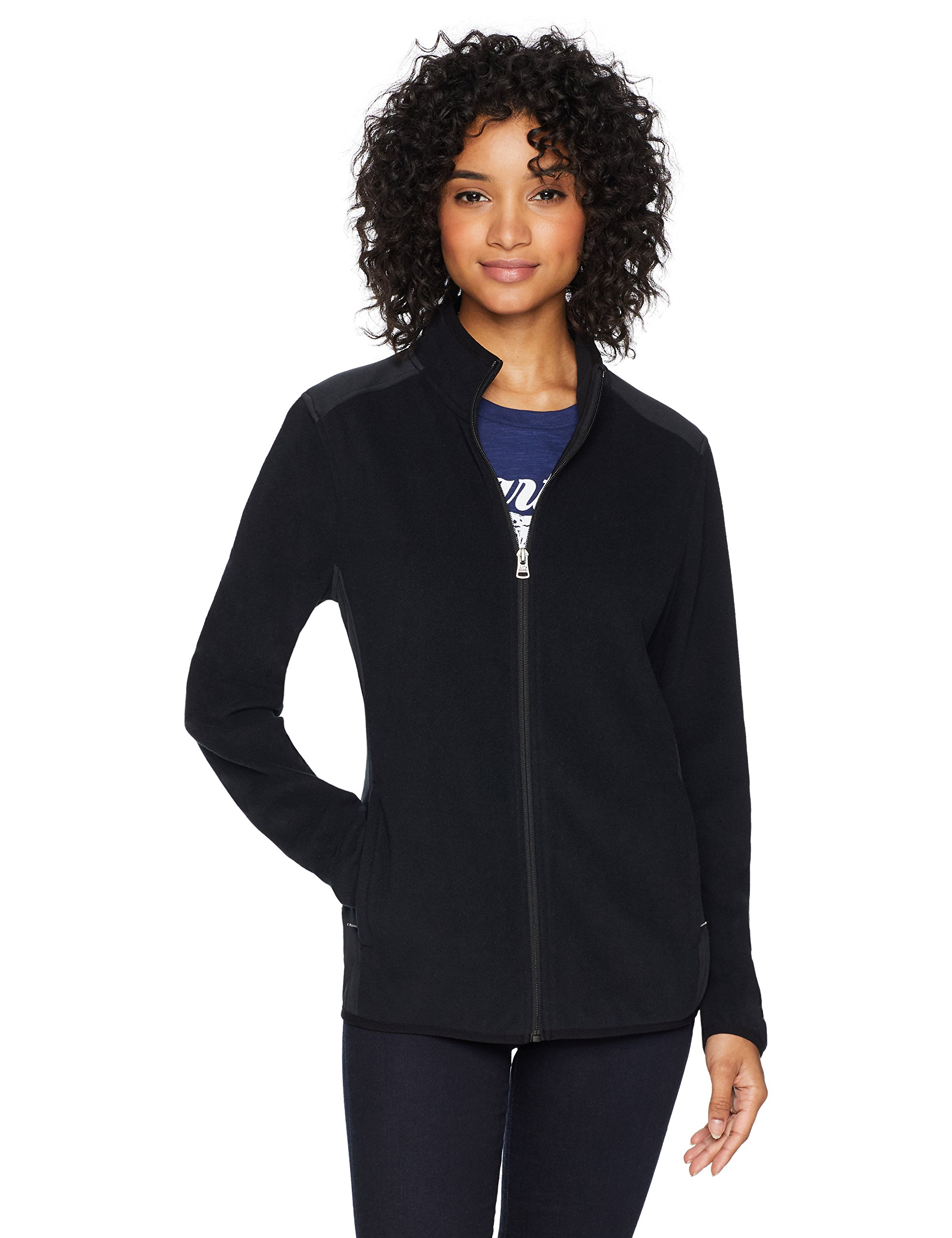 Starter Women's Polar Fleece Jacket, Prime Exclusive, Black, Large