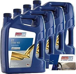 4 x 5 l=20 litros eurolub GT SAE 10 W/40 del motor de aceite motores de aceite 32121435: Amazon.es: Coche y moto