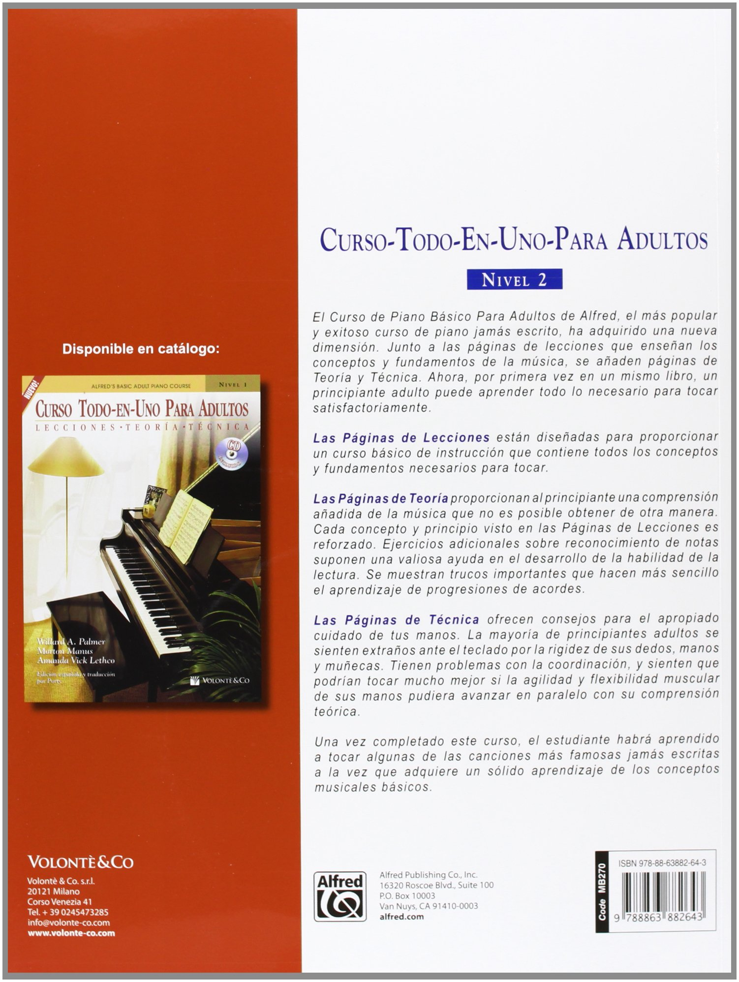 CURSO TODO EN 1 ADULTOS 2+CD Alfred\'s Basic Adult Piano Course ...