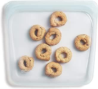 Stasher 100% Silicone Reusable Food Bag, Sandwich, Moonstone