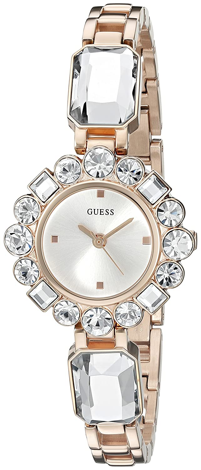 GUESS Womens U0701L3 Dressy Jewelry Inspired Rose GoldTone Watch
