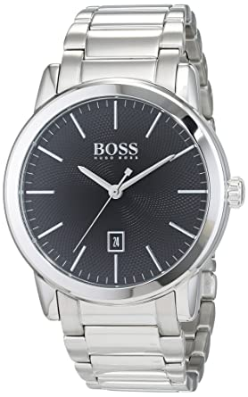 Hugo Boss Classic Black Dial Stainless Steel Mens Watch 1513398