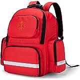 Trunab First Responder Bag Trauma Backpack Empty, Medical Emergency Kits Storage Jump Bag Pack for EMT, EMS, Police, Firefigh