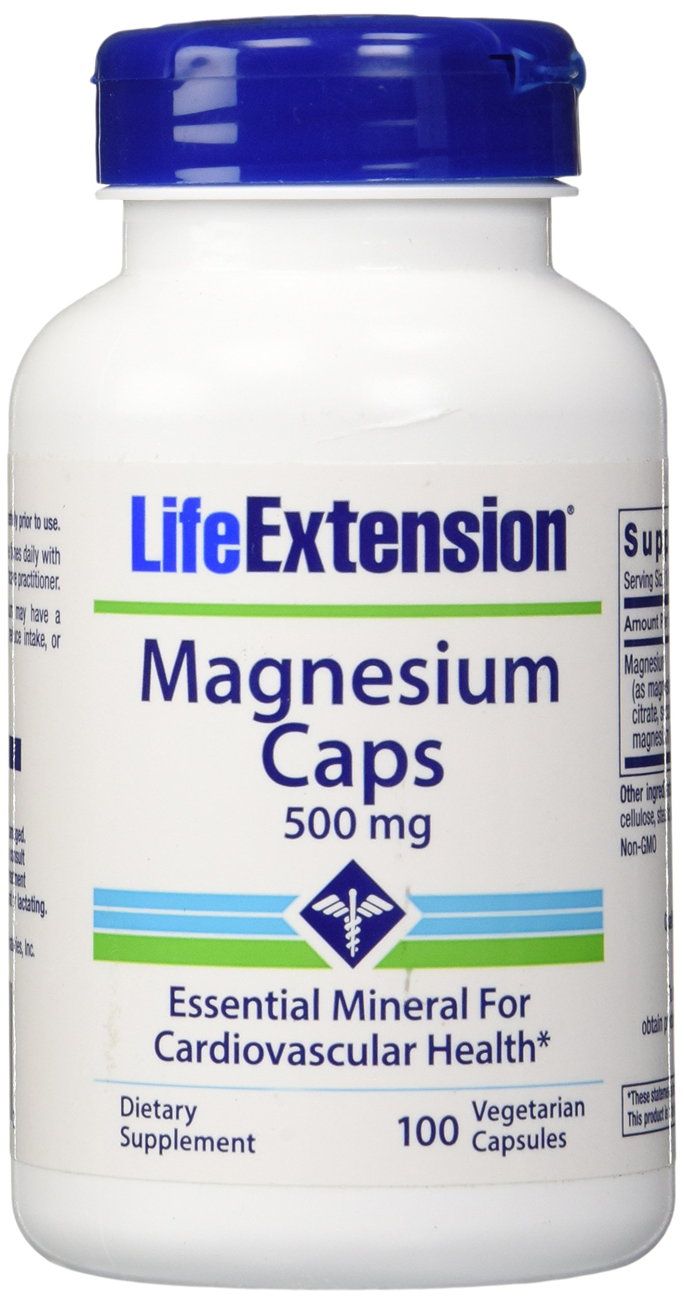 Life Extension Magnesium Vegetarian Capsules, 500 mg, 100 Count