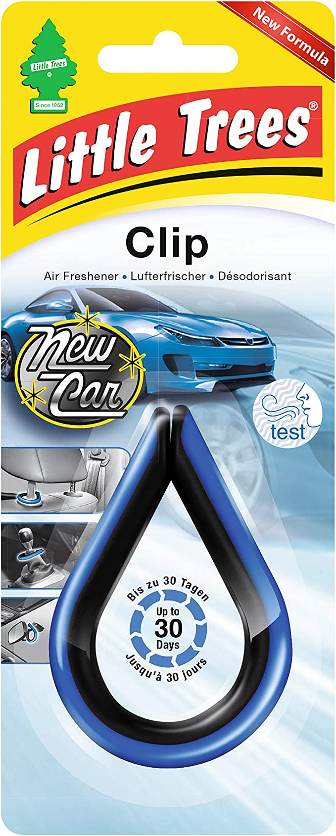 Little Trees Ltc003 Air Freshener Clip New Car Auto