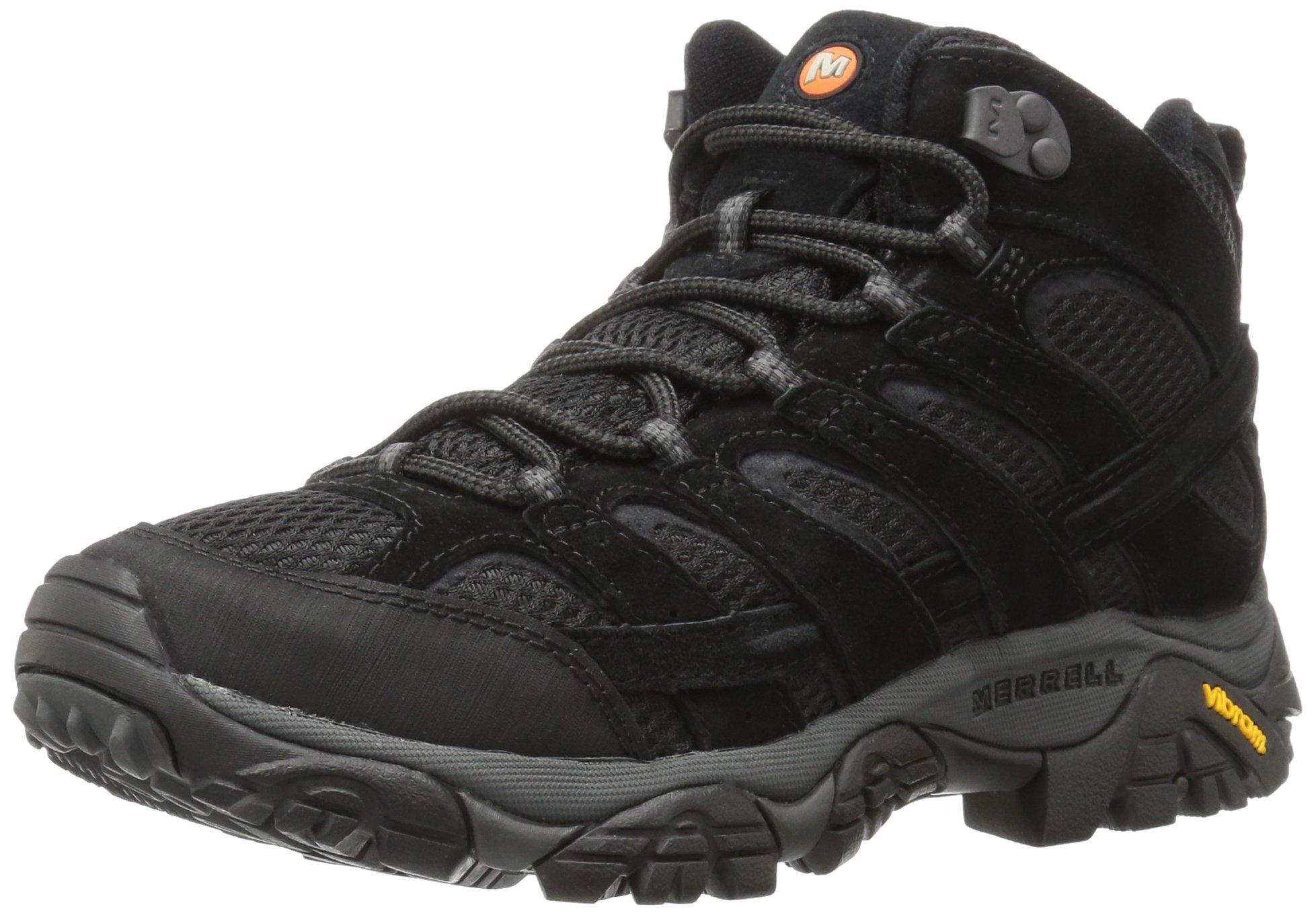 Merrell Men's Moab 2 Vent Mid Hiking Boot, Black Night, 8 M US