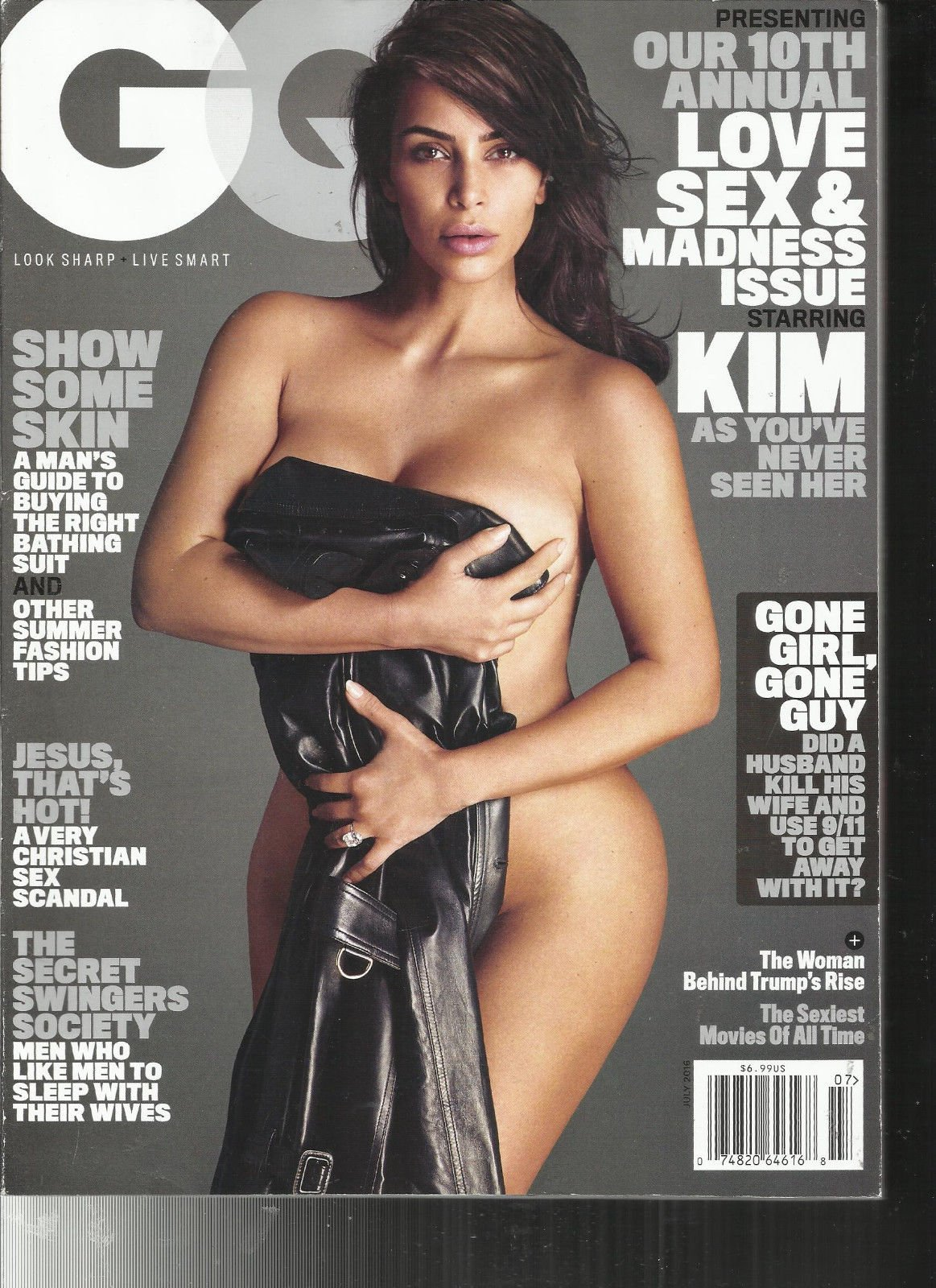 GQ MAGAZINE JULY, 2016 OUR 10th ANNUAL LOVE SEX & MADNESS ISSUE
