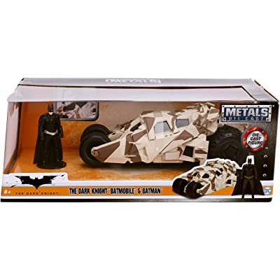 Jada Toys 1: 24 Scale The Dark Knight Batmobile Die-cast Vehicle with Batman Figure, Multicolor: Toys & Games