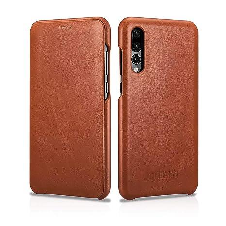 Mobiskin Funda para Huawei P20 Pro | Carcasa Fina con Cuero en el Exterior | Funda Protectora abatible hacia un Lado | Estuche Ultra Fino para el ...
