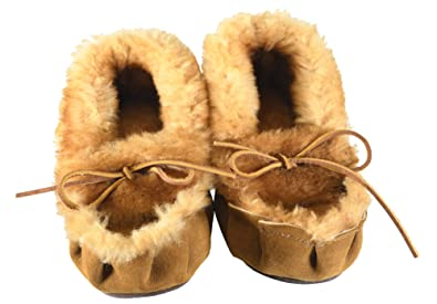 d68f31d20 Amazon.com   Tan Sheepskin Teepee Creeper Slippers With Sole   Slippers