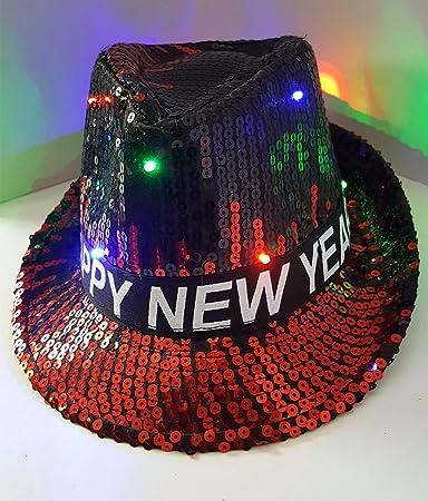 90912cfa80b Amazon.com  Happy New Years Eve Sequins Fedora