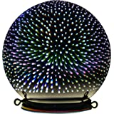 """Valery Madelyn Decorative Ball Lamp Indoor Outdoor Christmas Glass Ball 3D Coral for Hanging and Table Centerpiece, 6"""" Diameter"""