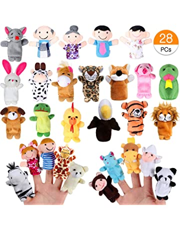 Happy cherry 4 PCS Marionetas de Dedos de Mu/ñecos de Tres Cerditos Lindos para Ni/ños Beb/és Conjunto de T/íteres de Mano de Cuentos de Animales de Cartoon Colorido