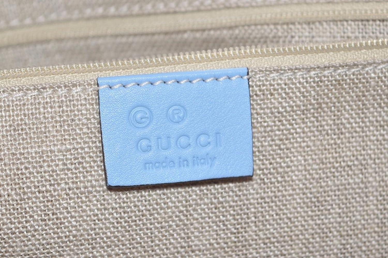 436065b934f Gucci Women s Leather Micro GG Guccissima Joy Purse Handbag Tote (449647 Mineral  Blue)  Amazon.ca  Shoes   Handbags