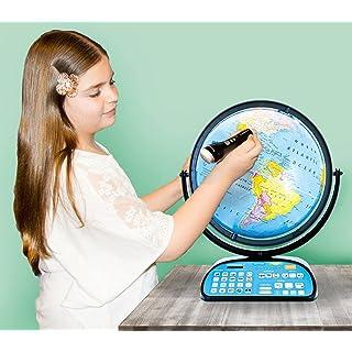 "Replogle Intelliglobe,Interactive,Blue Ocean World Globe,Perfect Educational Toy4Kids 12""/30cm diam"