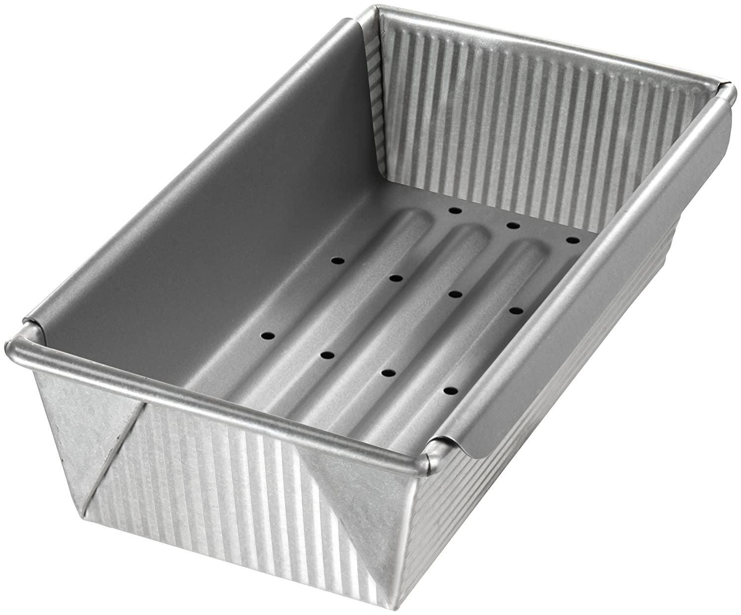 USA Pans 10 by 5-Inch Meat Loaf Pan with Insert 1157LF