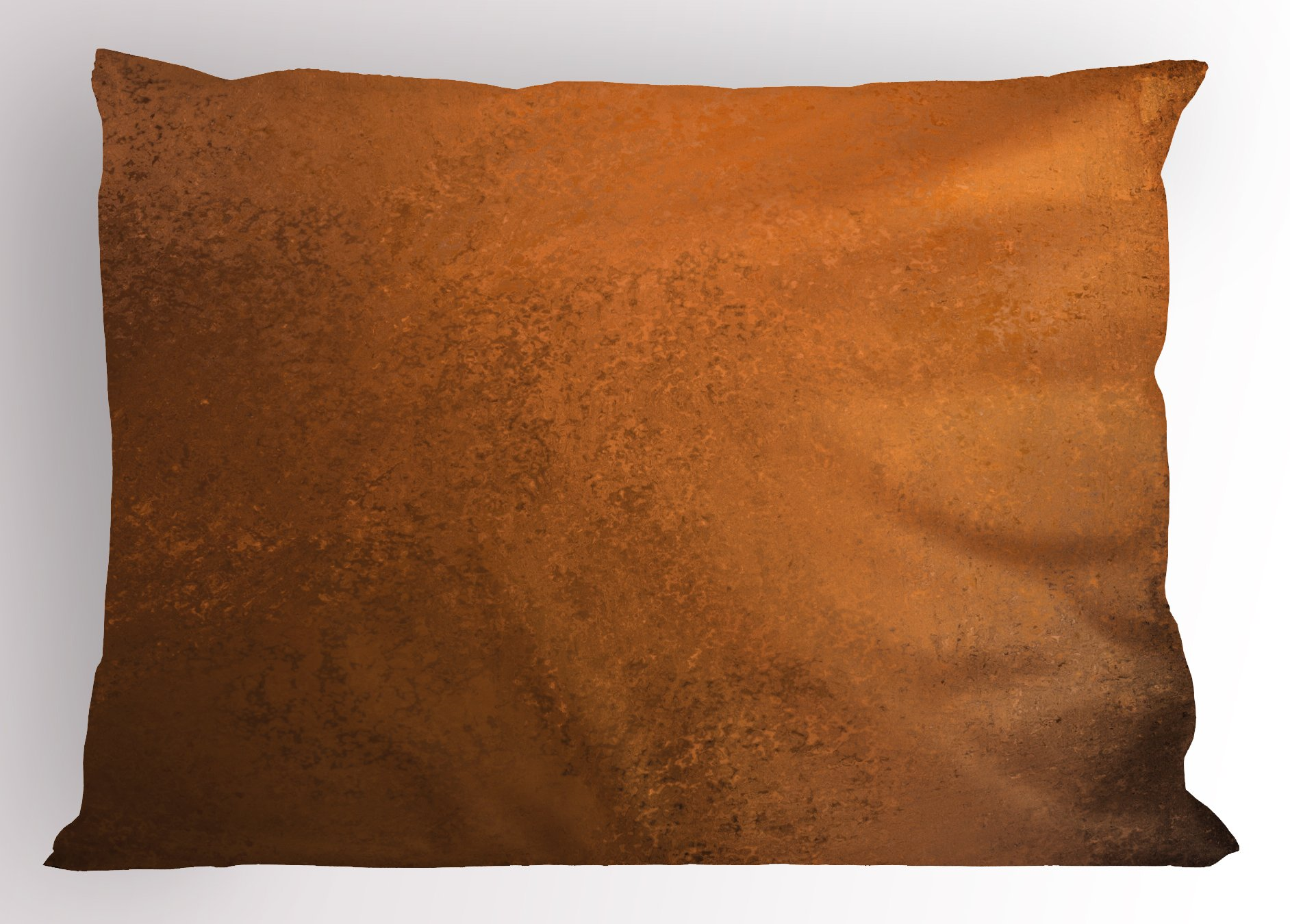 Ambesonne Abstract Pillow Sham, Grungy Looking Vintage Texture Weathered Abstract Surface Rough Wall Print, Decorative Standard Size Printed Pillowcase, 26 X 20 Inches, Ginger and Brown
